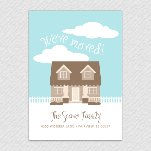 printable custom 5x7 we ve moved announcement single house 5 99