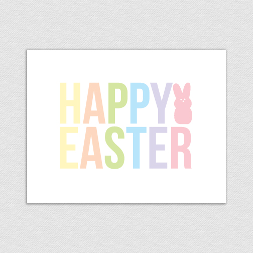 photograph about Happy Easter Cards Printable called Joyful Easter Printable Card [Pleased Easter Pastels] - $2.00