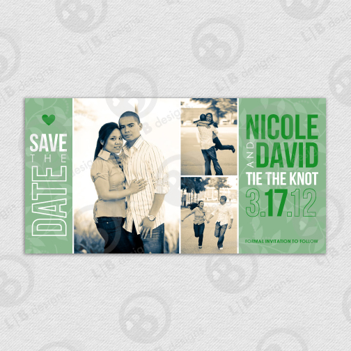 Printable Custom 4x7.75 Save the Date - Click Image to Close